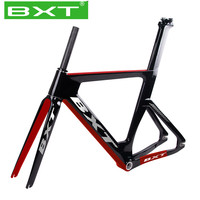 BXT new T800 carbon track frame with fork 700C fixed gear road bicycle frame 48/51/54/57cm single speed Track bicycle frameset