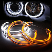 DTM Style Crystal LED Angel Eyes Kits Halo Rings Light For BMW E36 E38 E39 E46 M3 E90 E91 Halogen Xenon Headlight Accessories