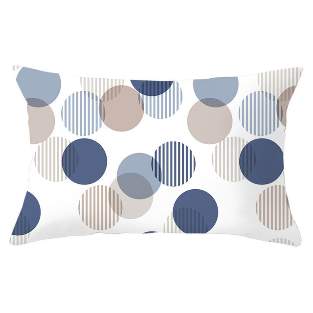 Geometric Patterned Rectangular Cushion Cover 5