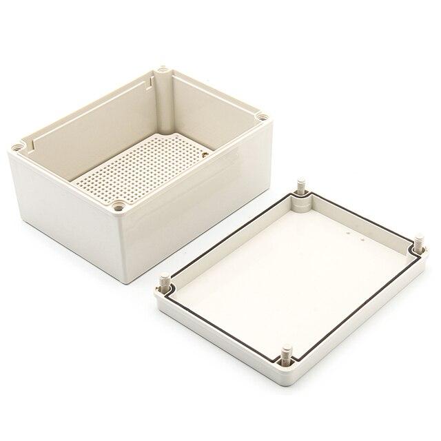 IP67 200*150*100 milímetros de plástico ABS à prova d' água recinto caso diy caixa de junção do terminal habitação para eletrônico w placa de instalação