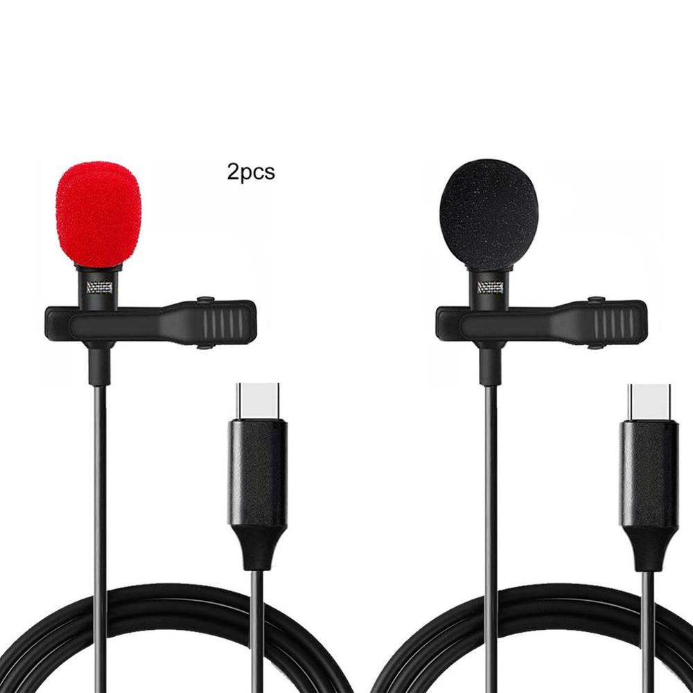 Portable Microphone Condenser Clip-On Lapel Lavalier Mic Wired Mikrofo Microfon For Phone For Laptop