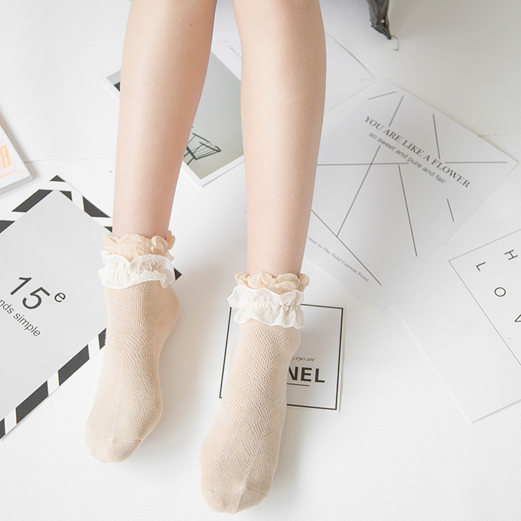 Cotton Socks Japanese Lace Princess Lace Socks Cotton Simulation Silk Women Socks Girl Lolita JK Lovely Sweet