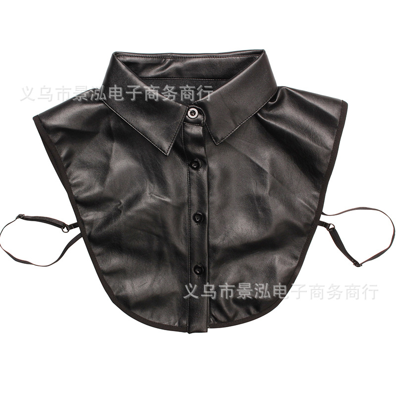 Monochrome PU Leather Fake Collar Popular Pattern All Seasons Small Clothes Shirt Collar