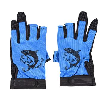1 para 3 rękawice wędkarskie bez palców oddychające szybkie suszenie antypoślizgowe rękawice wędkarskie zimowe wędkowanie dla Unisex karpia rękawica silikonowa tanie i dobre opinie 1451 Anti-slip Trzy Wyciąć Palec The size is too small