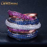 CWWZircons Luxury Cross Geometry Cubic Zirconia Engagement Dubai Unisex Rings Bridal Finger Ring Famous Brand Jewelry R119