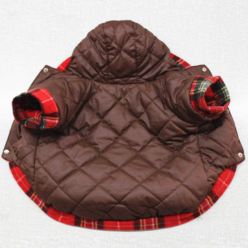 Pet Vestiti Del Cane di Inverno Caldo Con Cappuccio Usura del Rivestimento Su Entrambi I Lati Per Le Piccole Cani di Grossa Taglia Addensare Doppio Strato In Pile Cappotto bulldog francese