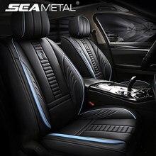 Premium tampas de assento do carro luxo couro do plutônio capa de assento completo cercado protetor almofada do assento automóvel universal para suv sedan van