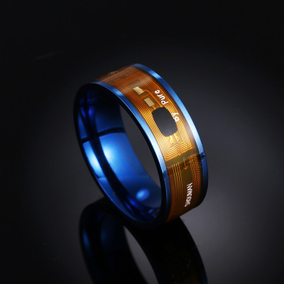 NFC Smart Ring Rvs Intelligente Chip Magic Vinger NFC Ring IC Id-kaart voor NFC Mobiele Telefoon Waterdichte Smart ring image