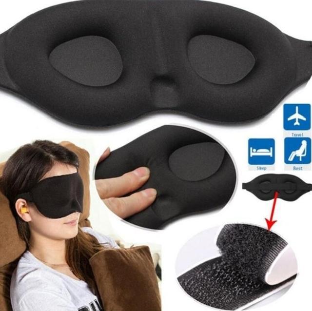 3D Sleeping mask Travel Rest Aid Eye Sleep Mask Cover Eye Patch Sleeping Mask Case Blindfold Eye Mask Eyeshade Massager