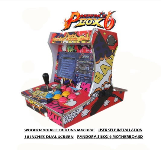 New Pandora Box 9D 2500 In 1 Wooden Double Players Fighting Arcade Bartop Mini Arcade Machine Cabinet 。Plug And Play