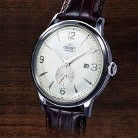 Orient relógio masculino japonês marca original relógio automático simples casual retro pequenos segundos mão 2019 novo produto relógio de pulso|Relógios mecânicos|   -