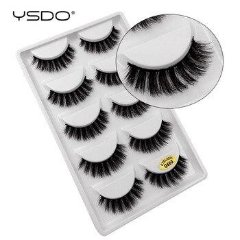 YSDO 5 pairs eyelashes hand made 3d mink lashes natural long soft mink eyelashes full strip lashes makeup false eyelashes cilios 1
