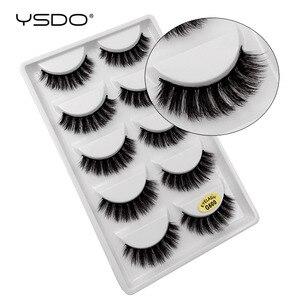 YSDO 5 pairs eyelashes hand made 3d mink lashes natural long soft mink eyelashes full strip lashes makeup false eyelashes cilios