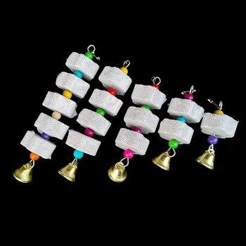Stein Mineral f r Papagei Haustier Liefert Vogel K fig Spielzeug Schleifen Stein Blume Form H