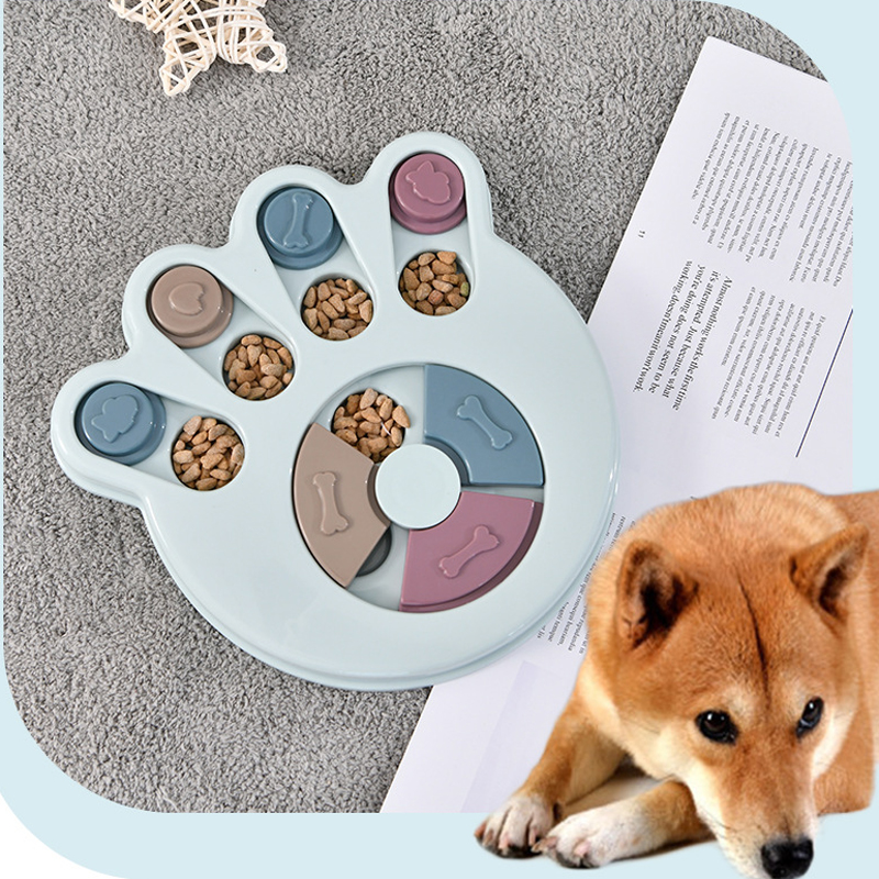 Pet Puzzle Eating Toys Paw Shape Food Slow Dispenser Dog Training Toy Funy Feeding Game Best Christmas Gift for Dogs