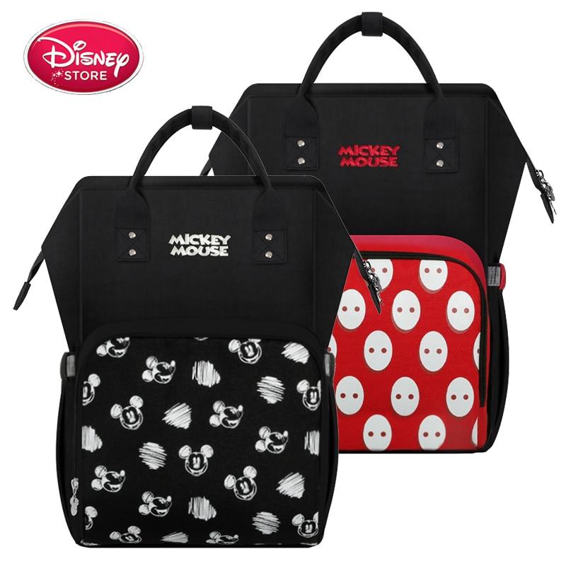 2020 New Disney Bag Mummy Diaper Backpack Maternity Nappy Bag Baby Travel Baby Bags For Mom Insulation USB Bottle Feeding