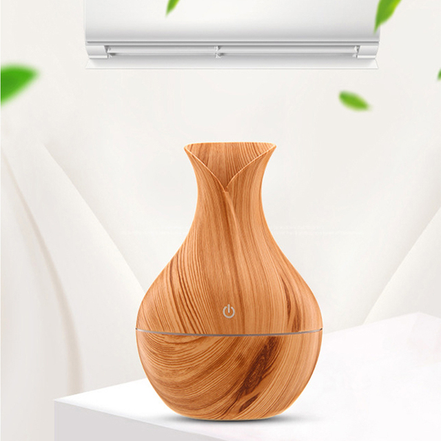 Natural Bamboo Products Wood Grain Household Essential Oil Diffuser Mini Air Purification Expansion Incense Smart Humidifier New 1