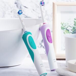 Image 5 - Szczoteczka elektryczna Oral B D12 Vitality obrotowy ultradźwiękowy elektroniczny szczotka do zębów akumulator Oral b dysze szybka dostawa