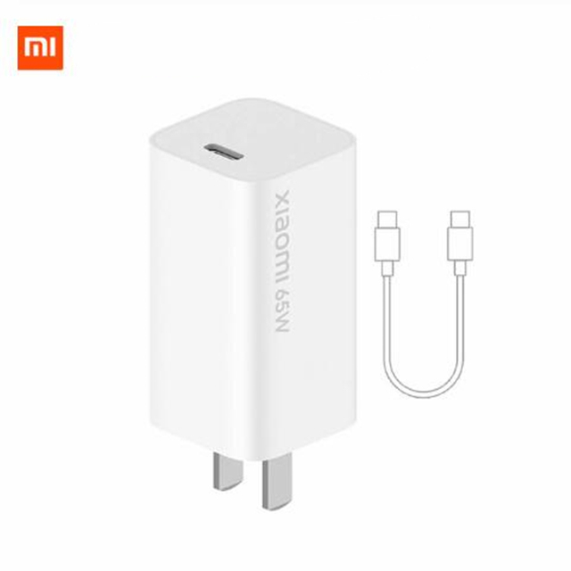 Xiaomi Mi GaN Charger 65W Type C Wall Charger For Mi10 Pro S20+ S20 ultra Mi Notebook Macbook Air MateBook iPhone 11 Pro Max