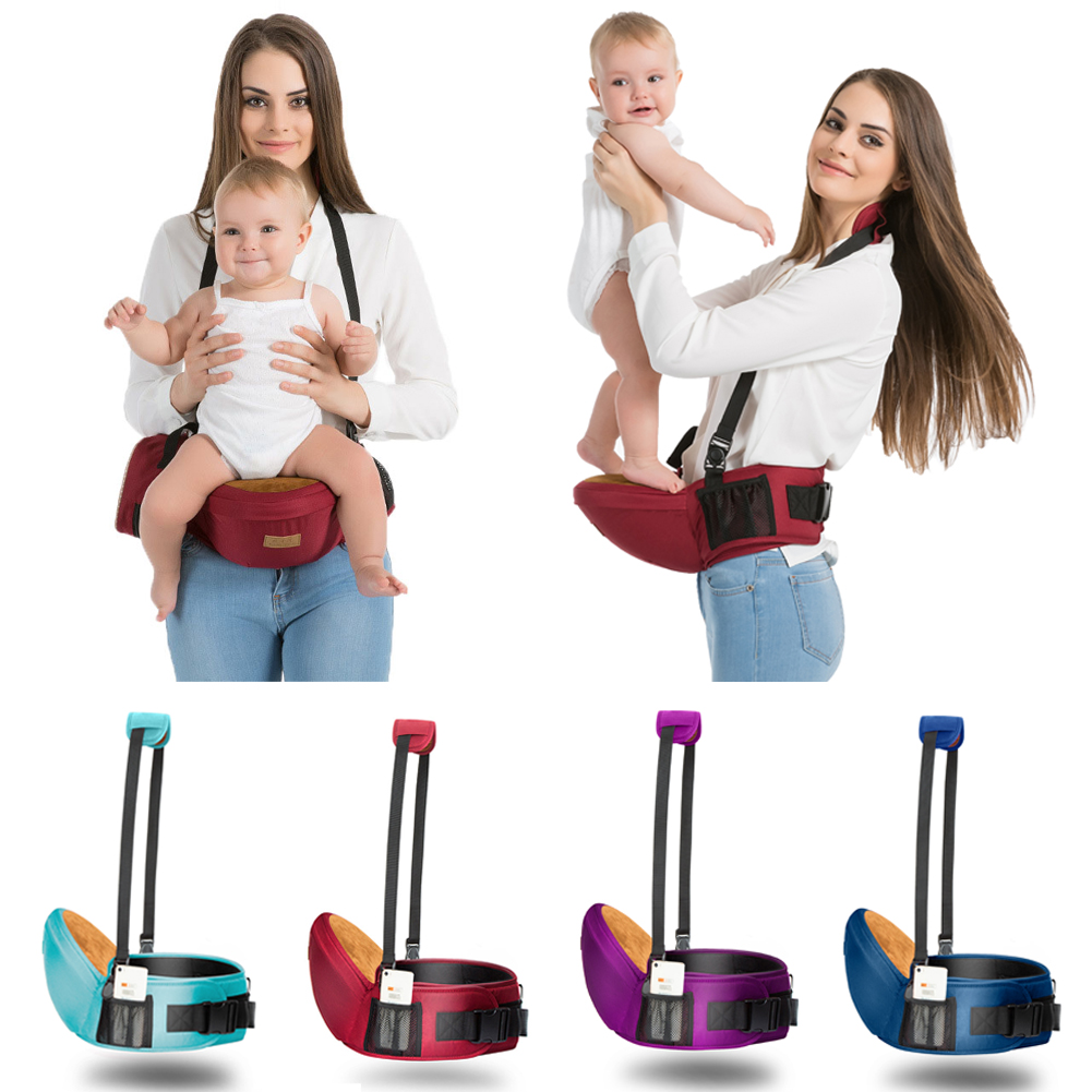 Gabesy Night Reflex Ergonomic Hipseat Waist Stool Walkers Baby Carrier Sling Hold Waist Belt Hipseat Belt Kids Infant Hip Seat