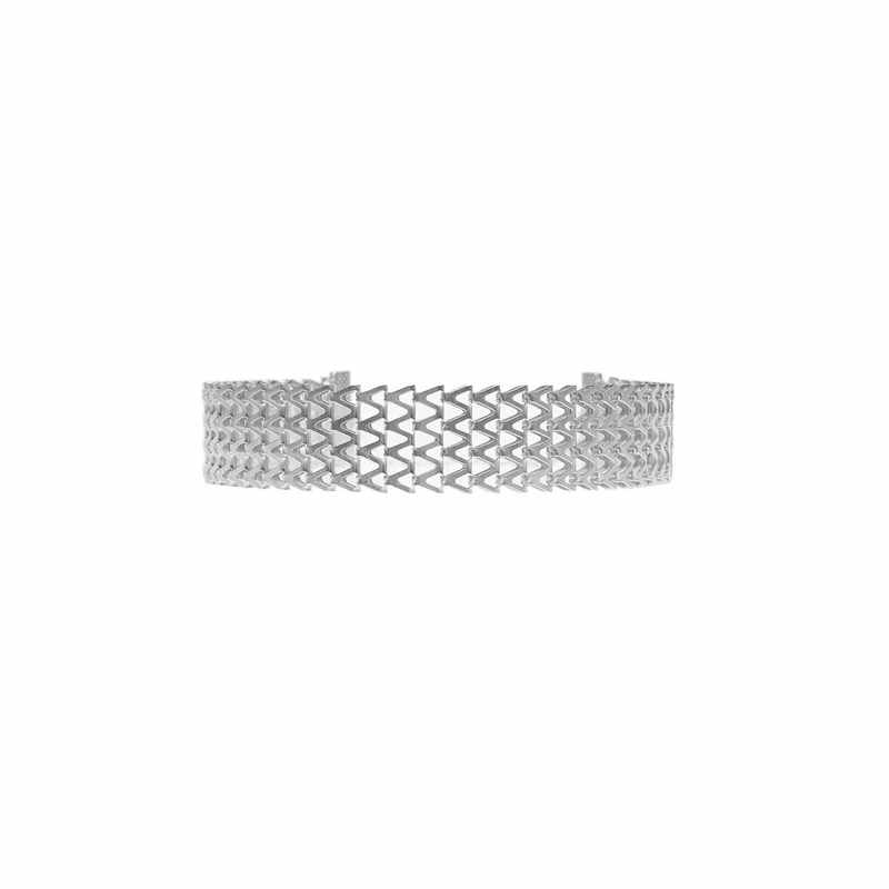 Choker Kolye European And American Fashion Jewelry The Van Retro Exaggerated Buckle Chain Necklace Geometric V Collar