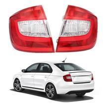 Feu arrière de style automobile, sans panneaux métalliques et ampoules, pour Skoda Rapid, modèles 2013, 2014, 2015, 2016, 2017, 2018