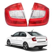 For Skoda Rapid  2013 2014 2015 2016 2017 2018 Car styling Tail Lamp Rear Light Without Wire Board and Bulbs