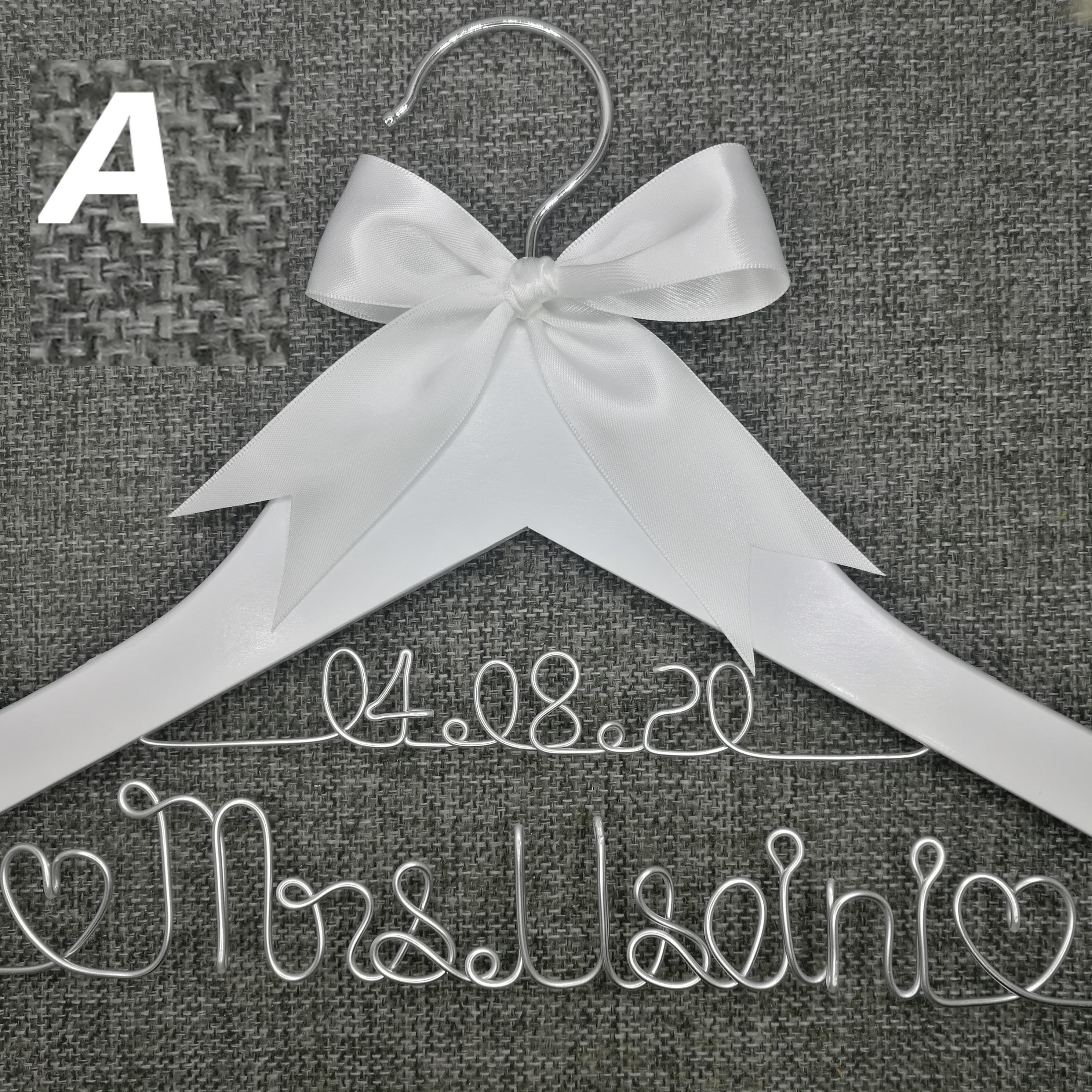 Персонализированные вешалки для свадьбы, подарки для подружки невесты, вешалку для имени, вешалку для платья невесты на заказ белый подарок...
