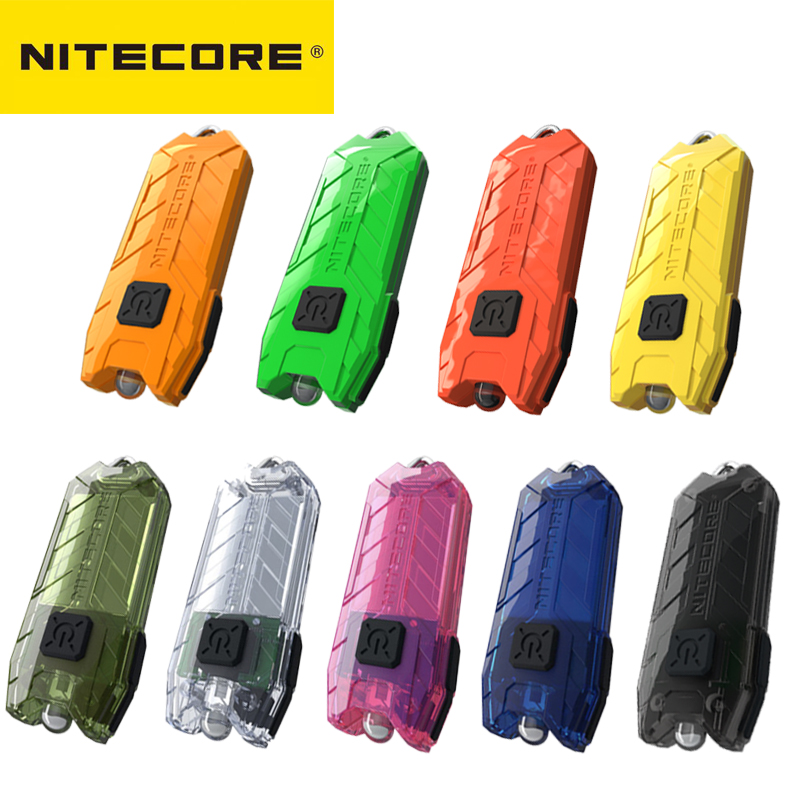 Nitecore lanterna tubo portátil de pouco peso usb recarregável edc bolso lanterna à prova dmini água mini colorido chaveiro lâmpada
