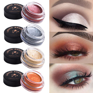 8 Colors Mashed Potato Monochrome Eye Shadow Cream Shimmer Eye Shadow Jelly Highlighter Pigment Eyes Maquillage TSLM2
