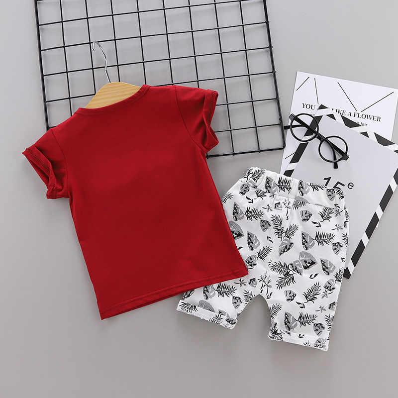 חולצה בגדי סט תינוק ילד בגדי בנות של ילדי בד מזדמן קצר שרוול חליפת 2019 חדש
