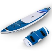 ANCHEER 11'' Double layer Surf Boat Inflatable Stand Up Paddle Board Sup Surfing 1000D Brushed SurfBoard Wakeboard Bodyboard