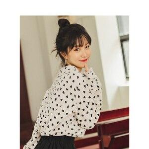 Image 2 - INMAN Spring Autumn Retro Young Girl Literary Cute Turn Down Collar Print 100%Cotton Women Blouse