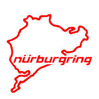 Nurburgring Map Funny Car Truck Vehicle Reflective Decals Sticker Decoration 2019 New Wholesale Funny Sign Car Accessories 5
