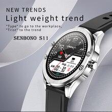 SENBONO 2020 S11 inteligentny zegarek IP68 wodoodporna tętno monitora inteligentny zegar Fitness kobiety mężczyźni Smartwatch Tracker dla Android IOS