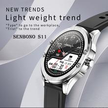 Senbono 2020 S11 Smart Horloge IP68 Waterdichte Hartslagmeter Smart Klok Fitness Vrouwen Mannen Tracker Smartwatch Voor Android Ios