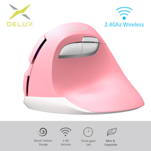 Delux M618Mini 2.4GHz Ergonomic Vertical Mouse Wireless Relieve wrist fatigue 2400 DPI