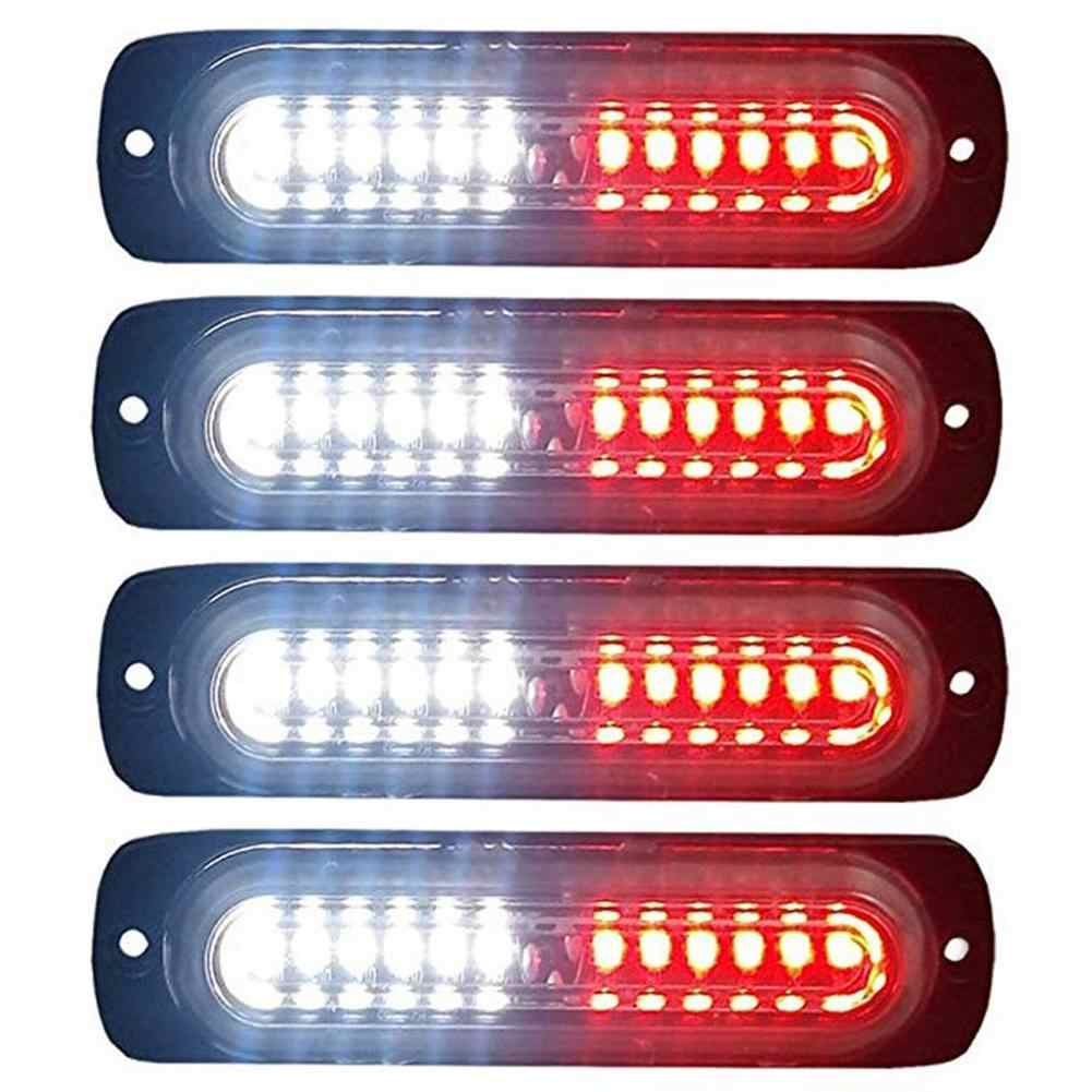 Motocicleta coche camión luz lateral impermeable 12LED 12V 24V coche estroboscópico Flash de emergencia luz de advertencia camión lado marcador lámpara