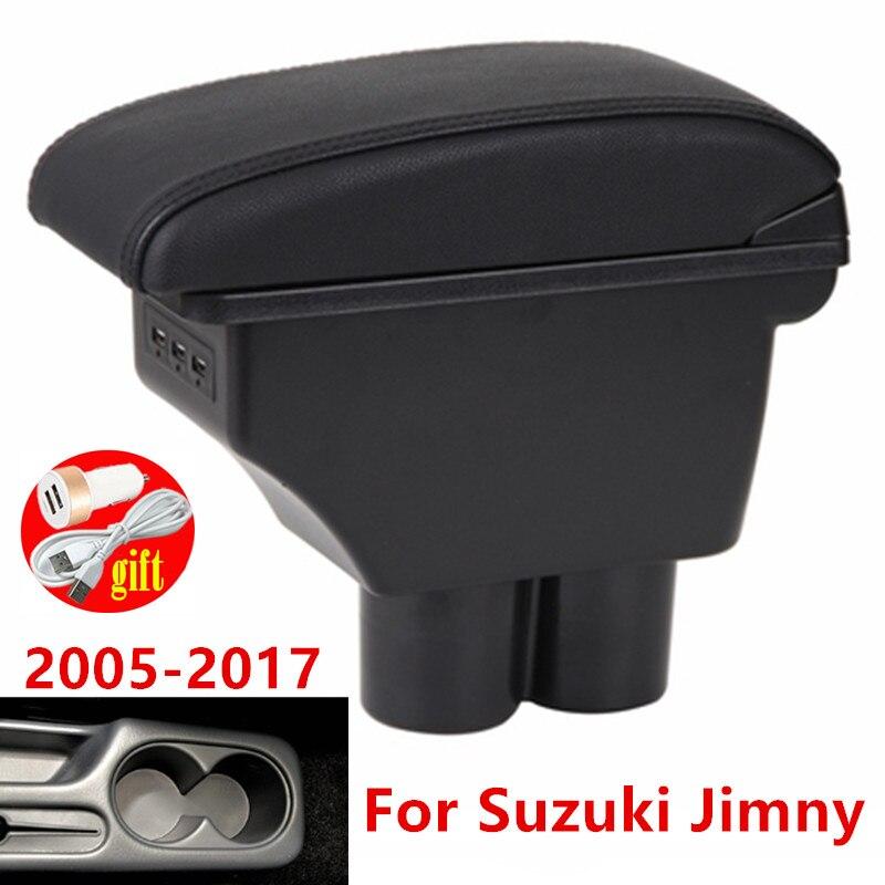Подлокотник для Suzuki Jimny 2010 2011 2012 2013 2014 2015 модифицированные детали ящик для хранения в подлокотнике автомобиля box автомобильные аксессуары 3USB