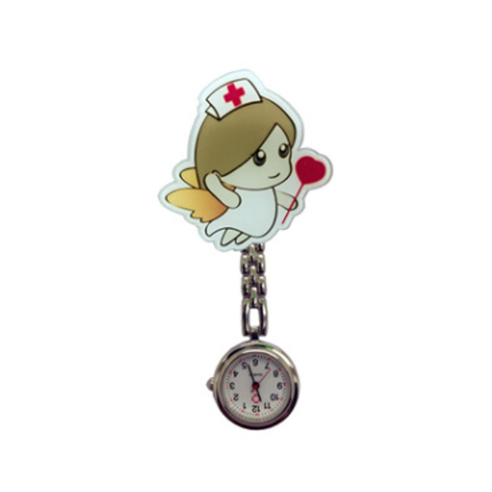 Cute Harajuku Nurse Pocket Watch Stainless Steel Fashion 3D Cartoon Doctor Nurse Pocket Fob Watch Hang Clip Watches