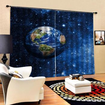 blue stars curtains Luxury Blackout 3D Window Curtains For Living Room Bedroom Customized size Decoration curtains