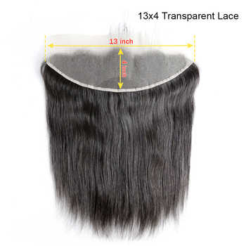 BAISI Peruvian Virgin Hair Swiss Transparent Lace Frontal Straight Medium Brown Lace Frontal 13x4 100% Human Hair