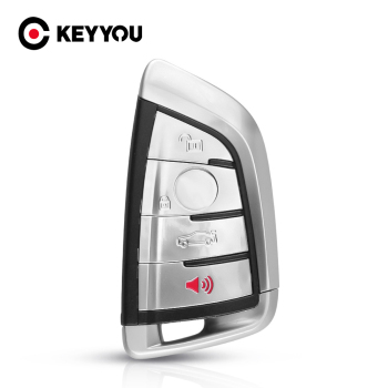 KEYYOU 3+1 Buttons Replacement Car Key Shell Case For BMW 1 2 7 Series X1 X5 X6 X5M X6M F Class Key Insert Blade Fob Cover image