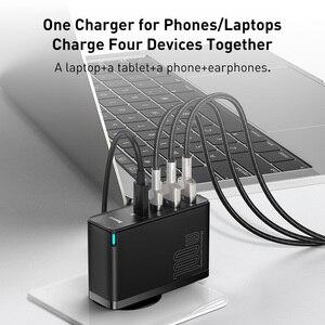 Image 4 - Baseus MacBook,ラップトップ,スマートフォン用の高速USB充電器,100W,4.0 USB電話充電器,急速充電3.0