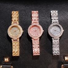 Women Watch Famous Luxury Brands Diamond Ladies Wrist Watches Female Small Wristwatch Rose Gold Montre Femme 2020