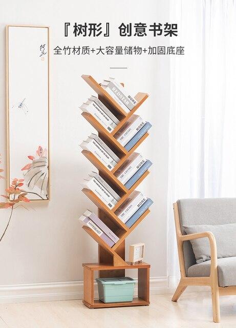 Floor Tree-Shaped Creative Bookshelf 2