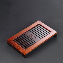 Solid Wood Tea Tray Mini Water Storage Tea Table Office Portable Tray Kung Fu Teaware Tea Ceremony Accessories Free Shipping