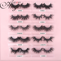 WOWANGEL 3D Mink Eyelashes Wholesale 30/40//50 Pairs Fuffly Luxury False Eyelashes Dramatic Volume Fake Lashes Makeup Tool