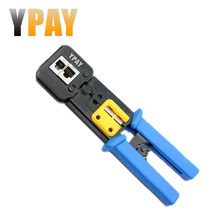 YPAY EZ Rj45 Cable Tools Crimper Rg45 Ethernet Internet Network Pliers Rj12 CAT5 CAT6 Wire Stripper Clamp Tongs Multifunction