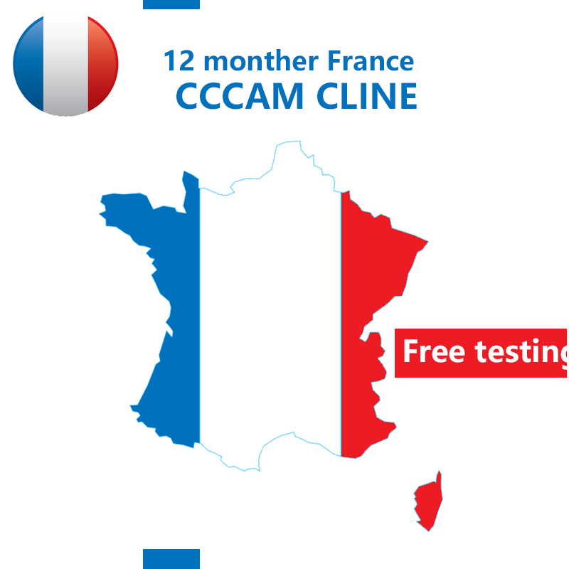 France For DVB-S2 Receptor Cccam Cline 7 /10lines 1 Year Tv Receiver 4/8lines WIFI FULL HD Support Ccams Free Testing